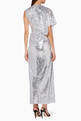 thumbnail of Silver Sequined Camryn Wrap Dress  #2