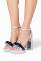 thumbnail of Silver Andie Bow Platform Sandals #1