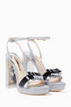 thumbnail of Silver Andie Bow Platform Sandals #0