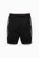 thumbnail of Black Logo Side Panel Shorts   #0