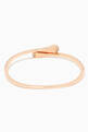 thumbnail of Cleo Diamond Slim Slip-on Bracelet in 18kt Rose Gold        #2