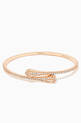 thumbnail of Cleo Diamond Slim Slip-on Bracelet in 18kt Rose Gold        #0