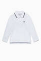 thumbnail of White Long-Sleeve Polo Shirt #0