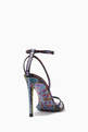thumbnail of Graffiti Print Stiletto Sandals #2