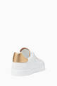 thumbnail of White Classic Logo Leather Sneakers   #2