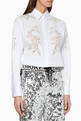 thumbnail of White Floral Appliqué Shirt  #0