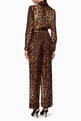 thumbnail of Brown Leopard-Print Silk Jumpsuit      #2