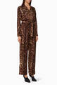 thumbnail of Brown Leopard-Print Silk Jumpsuit      #0