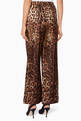 thumbnail of Brown Leopard-Print Pyjama Pants      #2