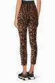 thumbnail of Brown Leopard-Print Cady Pants #2