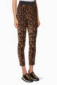 thumbnail of Brown Leopard-Print Cady Pants #0
