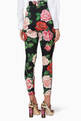 thumbnail of Black Floral Print Slim-Fit Pants #2