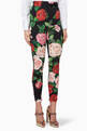 thumbnail of Black Floral Print Slim-Fit Pants #0