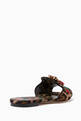 thumbnail of Multi-Coloured Leopard-Print Bianca Sandals #2