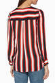 thumbnail of Multi-Colour Striped Kayla Draped Blouse #2