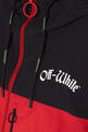 thumbnail of Red & Black Colour-Block Windbreaker Jacket #3