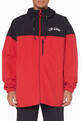 thumbnail of Red & Black Colour-Block Windbreaker Jacket #0