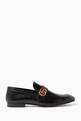 thumbnail of Black Donnie GG Leather Loafers      #0