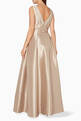 thumbnail of Beige Embellished Sleeveless Gown #2