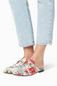 thumbnail of White Floral-Print Princetown Slippers #1