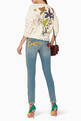 thumbnail of Blue Embroidered-Patch Skinny Jeans  #1
