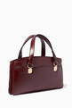 thumbnail of Burgundy Arli Large Top-Handle Bag #2