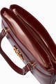 thumbnail of Burgundy Arli Large Top-Handle Bag #3