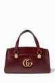 thumbnail of Burgundy Arli Large Top-Handle Bag #0