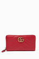 thumbnail of Red GG Marmont Zip-Around Wallet #0