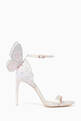 thumbnail of Ivory Embroidered Mirror Chiara Butterfly Sandals  #4