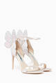 thumbnail of Ivory Embroidered Mirror Chiara Butterfly Sandals  #0