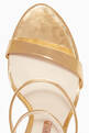 thumbnail of Gold Rosalind Crystal Sandals  #3