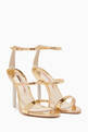 thumbnail of Gold Rosalind Crystal Sandals  #0