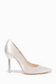 thumbnail of Ivory Satin Coco Crystal Pumps #4