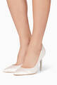 thumbnail of Ivory Satin Coco Crystal Pumps #1