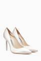 thumbnail of Ivory Satin Coco Crystal Pumps #0