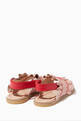 thumbnail of Pink Ruffle Leather Sandals  #2