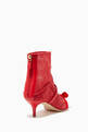 thumbnail of Red Claudia Luwolt Mesh Booties   #2