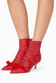 thumbnail of Red Claudia Luwolt Mesh Booties   #1