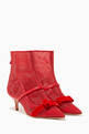 thumbnail of Red Claudia Luwolt Mesh Booties   #0