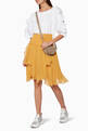 thumbnail of Yellow Solid Silk Crépon Skirt #1