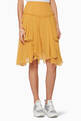 thumbnail of Yellow Solid Silk Crépon Skirt #0