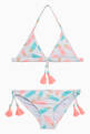 thumbnail of White Feathers Motif Triangle Bikini  #0