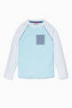 thumbnail of Blue Striped Pocket Long-Sleeved Top  #0