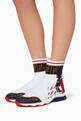 thumbnail of White Logo Sock Sneakers #1