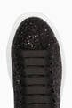 thumbnail of Black Glitter Platform Sneakers #3