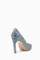 thumbnail of Blue Glitter Mira Pearl Pumps  #2