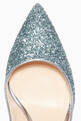 thumbnail of Blue Glitter Mira Pearl Pumps  #3