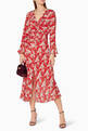 thumbnail of Red Diana Floral Coleen Dress     #1