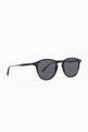 thumbnail of Basalt Hampton 46 Acetate Round-Frame Sunglasses   #1